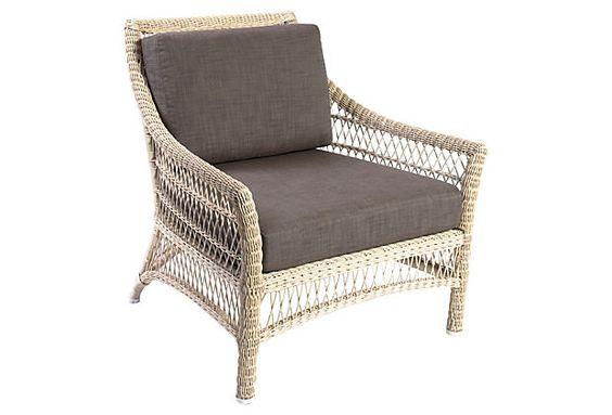 Water Mill Lounge Chair, Pearl on OneKingsLane.com McGuire