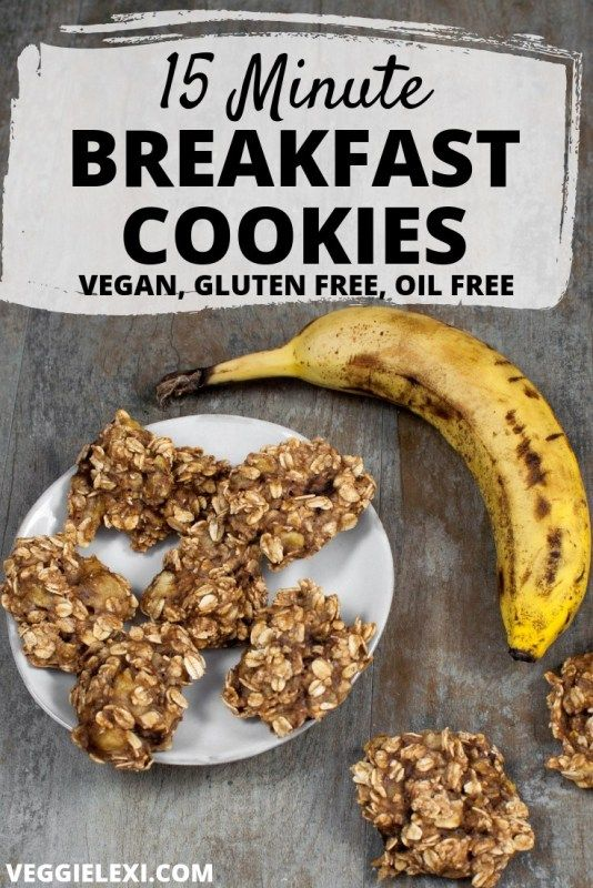 Quick Delicious And Healthy These Vegan Gluten Free And Oil Free Cookies Made With Banana And Oats Are Banana Breakfast Cookie Breakfast Cookies Recipes