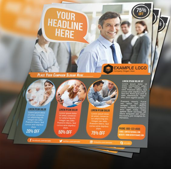 Corporate Business Flyer 004 Graphicriver Portfolio Pinterest - example of flyers