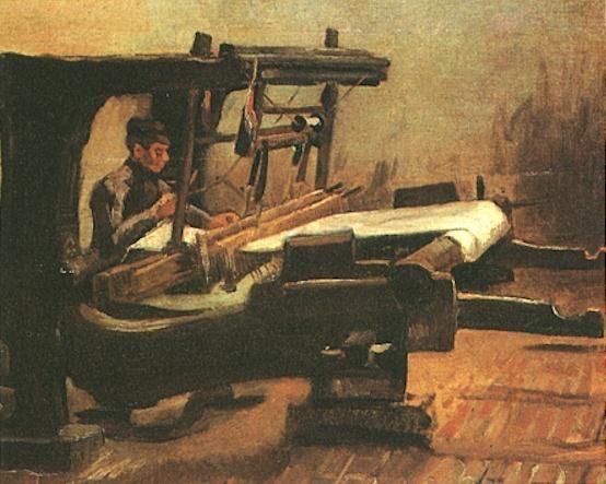Van Gogh 1884 Tejedor En Un Telar Van Gogh Vicent Van Gogh Vincent Van Gogh