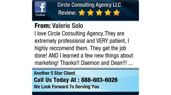 I love Circle Consulting Agency.They are extremely professional and VERY patient, I highly...