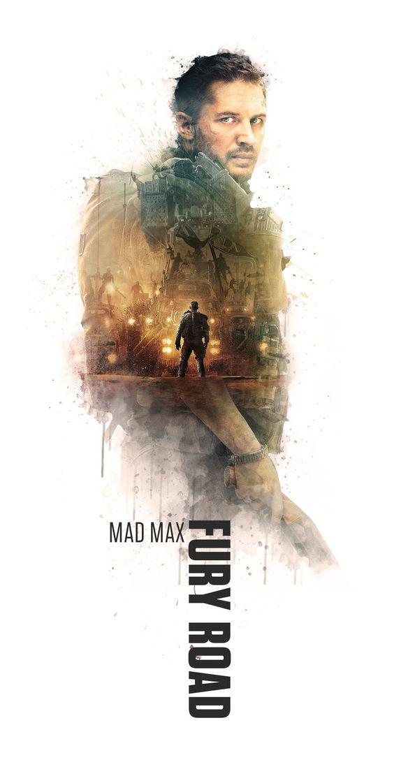 Mad Max Fury Road double exposure poster - Nicolás Aguirre   Socialdoe.com
