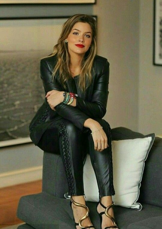 Only Leather Leather Pants Outfit Leather Pants Lace Up