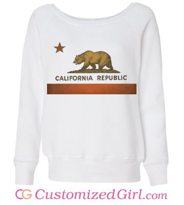 California Represent Rep custom sweater from Customized Girl