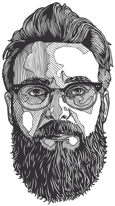 Line Drawing Styles : Illustrations ux ui designer and beards on pinterest