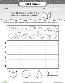Sort 2D and 3D Shapes | Worksheet | Education.com
