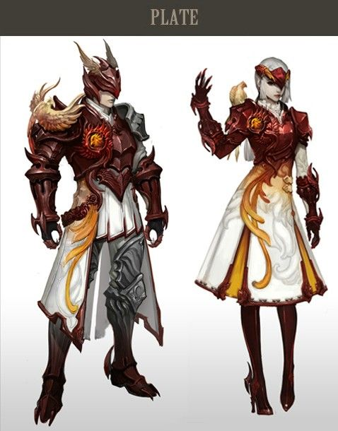 Pheonix motifs and the mostly white with some red and yellow could work for a new character.
