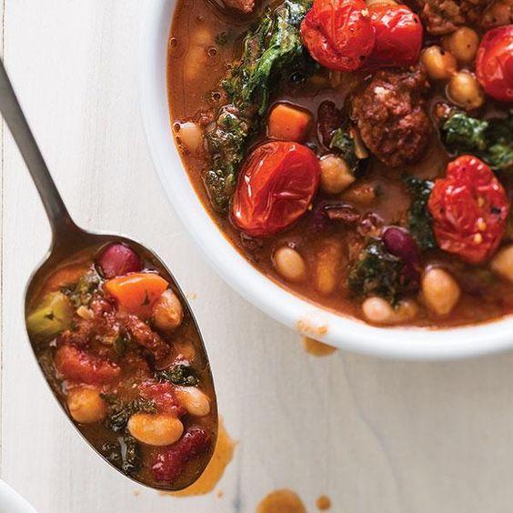 bean soup italian bean and grains stew recipes dishmaps italian bean ...