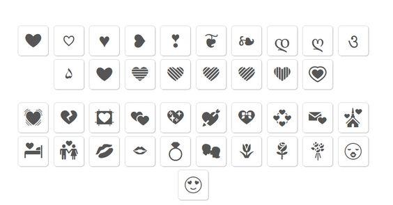 Heart Symbols Love Symbols Text Symbols Heart Symbol