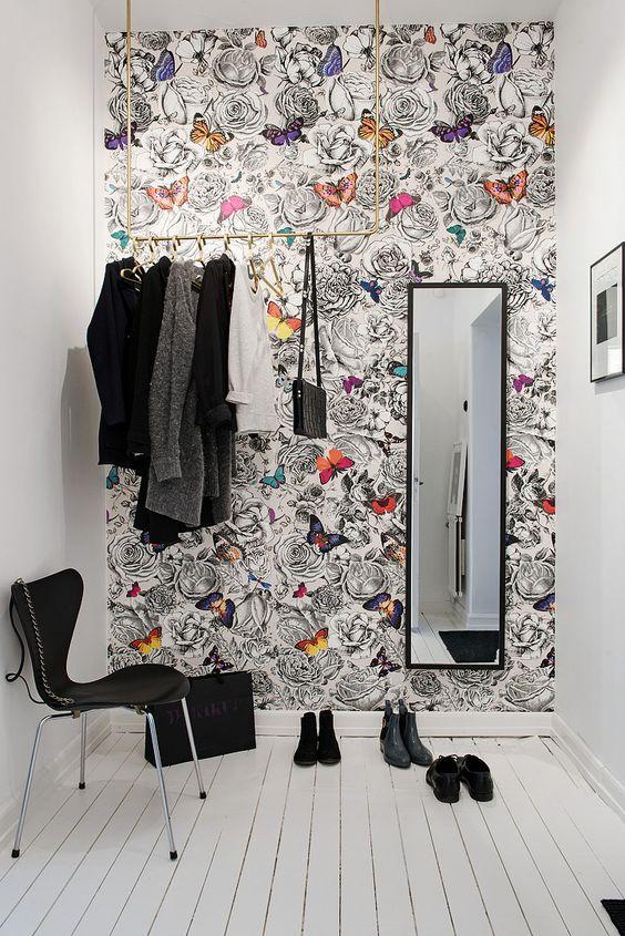 Fondtapet Koket : Scandinavian interiors, Scandinavian interior design and Wallpapers on