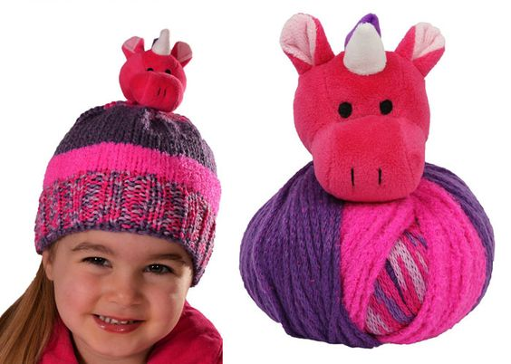 Top This Knitted Hat Kit - Unicorn