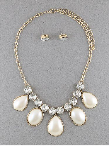 Womens Necklaces | - Necklaces///fashion Pearl | 17-20 Inch | Gold-cream-clear Hail Mary Gifts,http://www.amazon.com/dp/B00ESK1CFA/ref=cm_sw_r_pi_dp_IGnksb15Z6QBHCRK