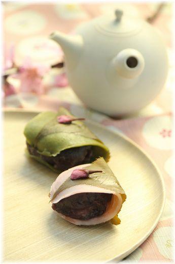 色で遊ぶ2種桜餅♡ おしゃれな桜餅の作り方