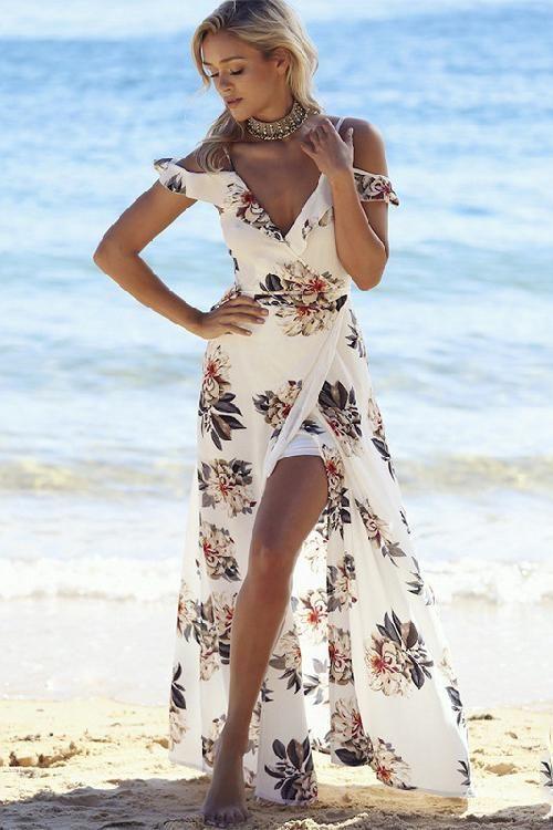23+ Boho split maxi dress inspirations