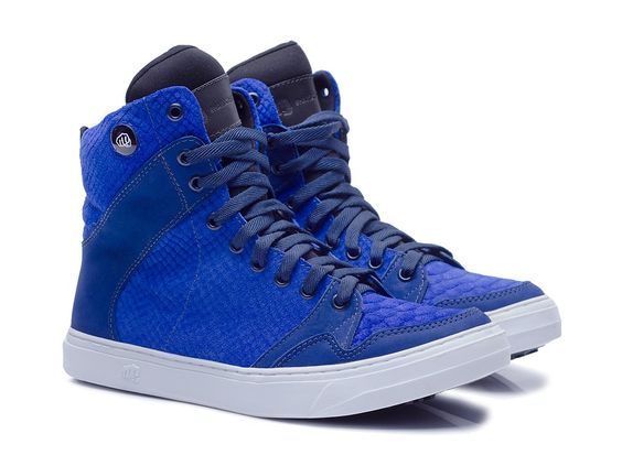 TENIS SLIM3734 - CROCO AZUL - Hardcorefootwear