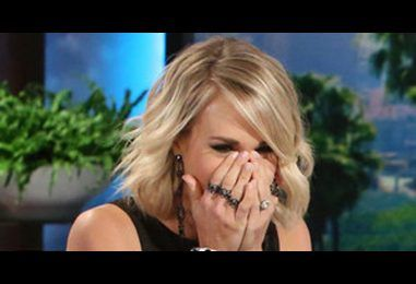 Ellen DeGeneres Scares the Crap Out of Carrie Underwood