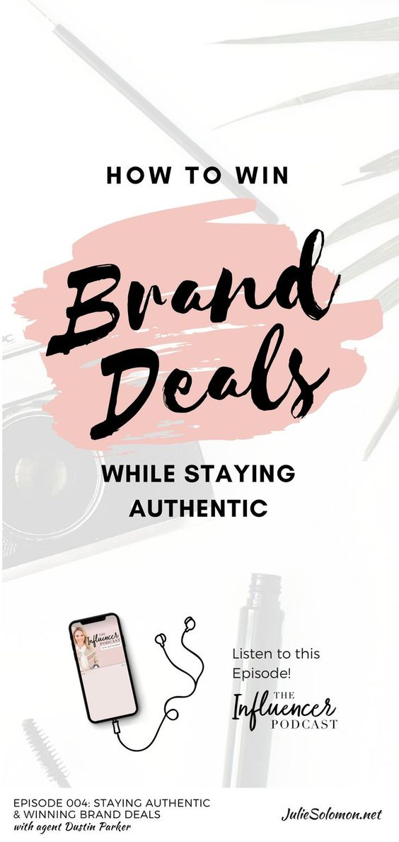 Find out the 4 ways an influencer must stay authentic online. How to win brand deals and staying authentic. Julie Solomon with Dustin Parker, digital and branding agent at APA. #TheInfluencerPodcast #branding #influencers #makemoneyonline