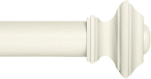 New Ivilon Drapery Window Curtain Rod Set Square Design 1 1 8