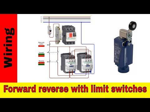 Forward Reverse Motor Control Wiring With Limit Switches Youtube Switches Electrical Diagram Reverse