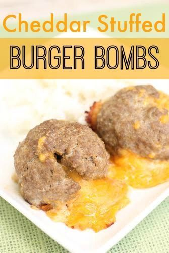 This Cheddar Stuffed Burger Bombs recipe is sure to please the masses ...