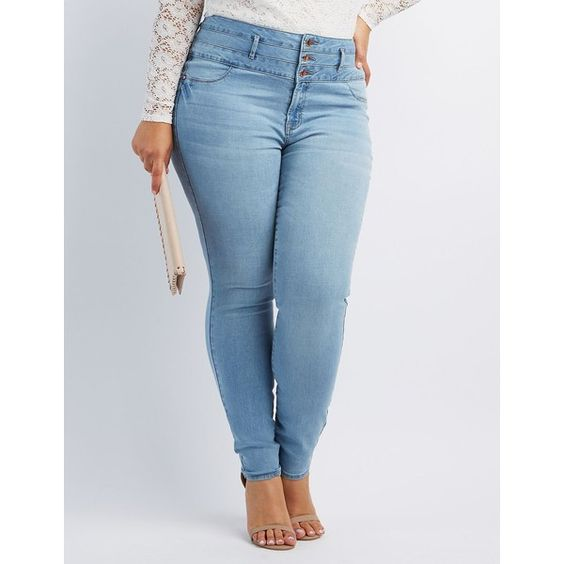 Refuge Hi Waist Skinny Jeans ($37) ❤ liked on Polyvore featuring jeans, dark wash denim, high-waisted skinny jeans, plus size jeans, blue skinny jeans, denim skinny jeans and high waisted denim skinny jeans