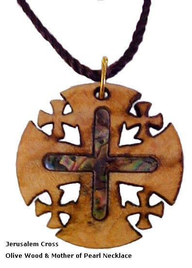 Every Necklace is beautifully presented for gift giving with a Certificate of Authenticity and a Biblical Picture You will love these beautiful collection of hand carved OliveWood and MultiColor Mother of Pearl pendants. A great gift for men or woman. Every Cross in this collection is unique because of the variety of the Olive Wood grains and the richness and Brilliant of the Mother of Pearl  Multi colors and shapes of Blue Green Pink Purple Gold and every colors in between. Every necklace…