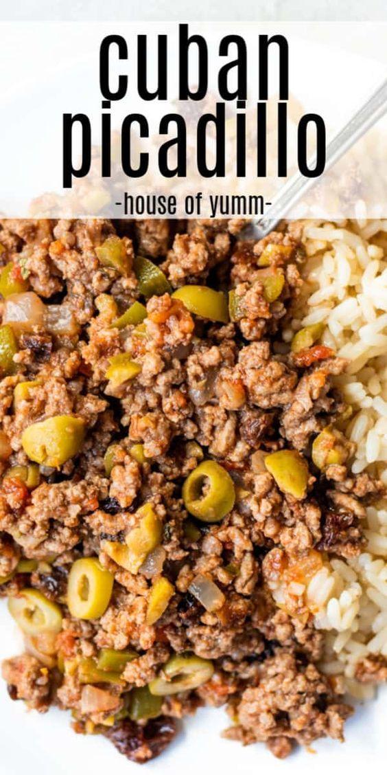 Cuban Picadillo Recipe In 2020 Ground Beef Recipes For Dinner Beef Recipes For Dinner Beef Dinner