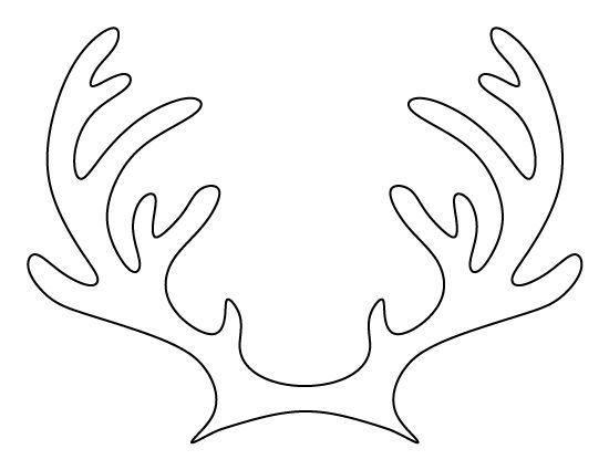 Printable reindeer antlers pattern use the pattern for for Template for reindeer antlers