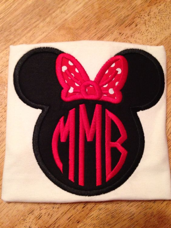 Minnie Mouse with initials