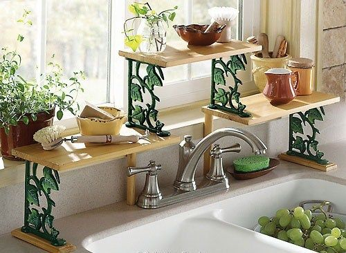 ivy over the sink shelf; like the concept not the ivy | random