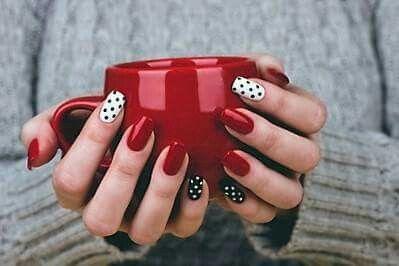 Hybrid nails for Xmas :):