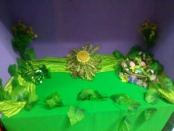 Mini-altar de Ostara Septiembre 2017