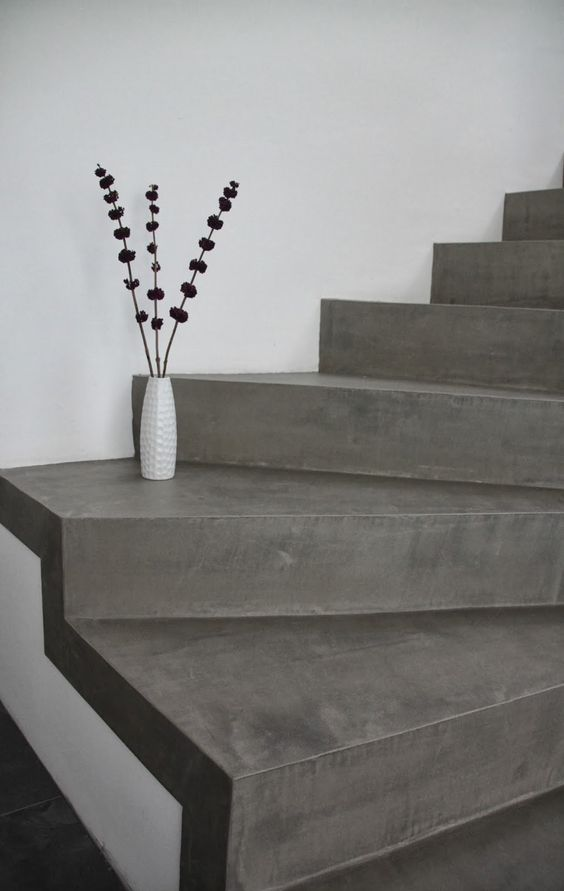 beton cire treppe betontreppe beschichten haus ideen pinterest w nde. Black Bedroom Furniture Sets. Home Design Ideas