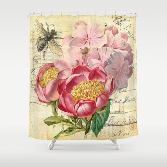 #vintage #flowers #floral #woman #girly #pretty #shabby #spring #summer available in different #homedecor products. Check more at society6.com/julianarw #showercurtain
