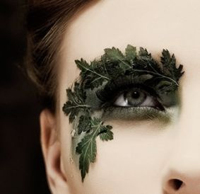 Maquillage feuilles
