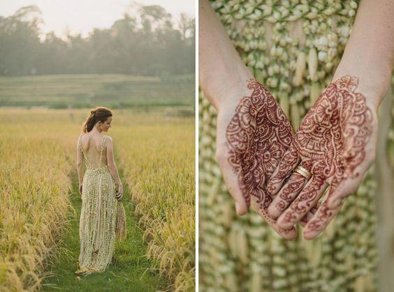 Nada pode ser mais diferente do que um vestido de noiva feito de plantas!   Uma noiva, três vestidos | Paperland & Co.