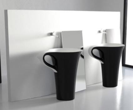lavabos originales con forma de taza de caf