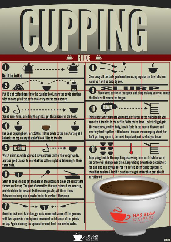 Has Bean Coffee — Cupping Brew Guide Coffee Pinterest