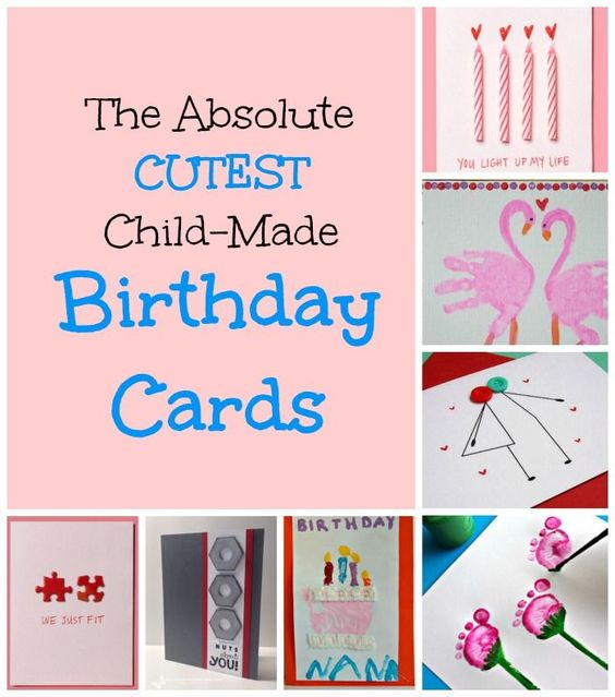 Homemade Birthday Cards For Kids To Create Grandma Birthday Card Birthday Cards Diy Kids Birthday Cards