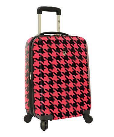 Take a look at this Hot Pink 21 Houndstooth Hardside Carry-On Upright by Travelers Choice Travelware on #zulily today!