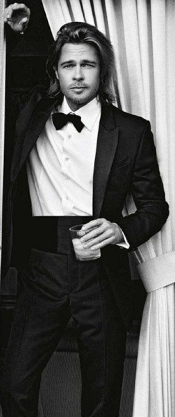 Brad Pitt perfect dress attire.  Can't wait to meet you. Happy Birthday Winnie