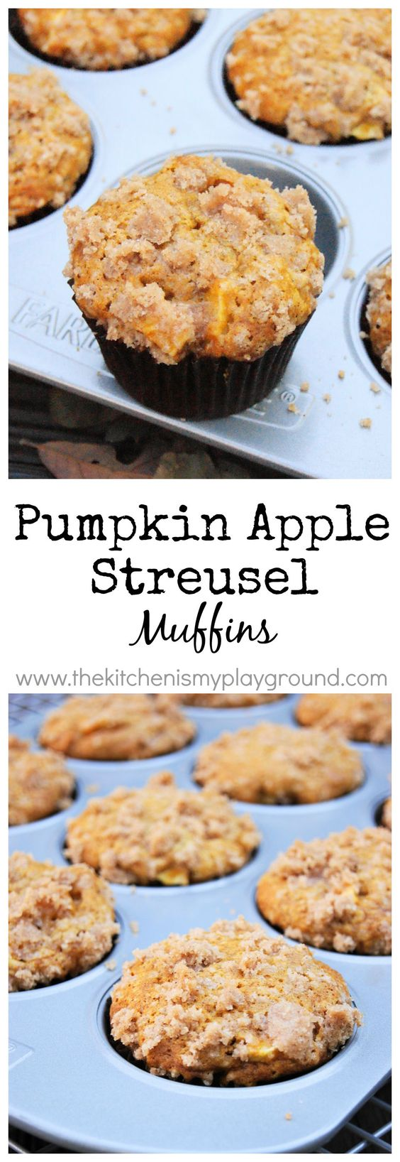 Pumpkin Apple Streusel Muffins ... 2 fall flavors are perfect together ...