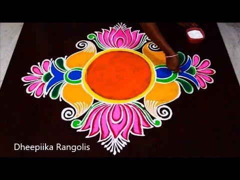 New Year Special Rangoli Design 2019 Happy New Year Kolam New Year Muggulu With Colours Youtube Special Rangoli Rangoli Designs Simple Rangoli Designs Images