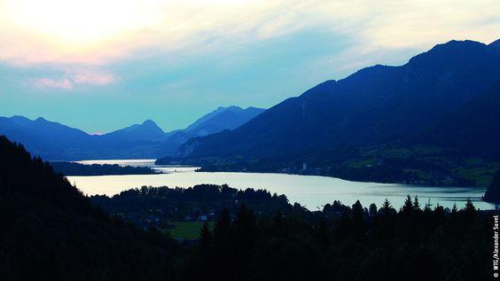 Abenddämmerung über dem Wolfgangsee