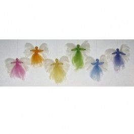 Rainbow Angels Craft Kit. No sewing needed. So sweet hanging from a tree!
