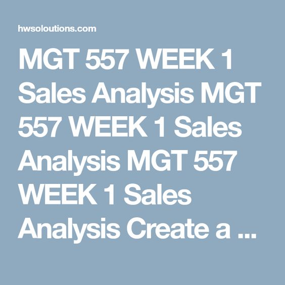 Mgt  Week  Sales Analysis Mgt  Week  Sales Analysis Mgt