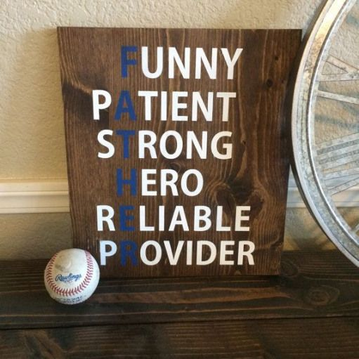 Reclaimed Wood Father Sign Fathers Day Sign Acrostic By Wtgdesigns Kidswoodcrafts Diy Father S Day Gifts Signs Father Fathers Day Crafts