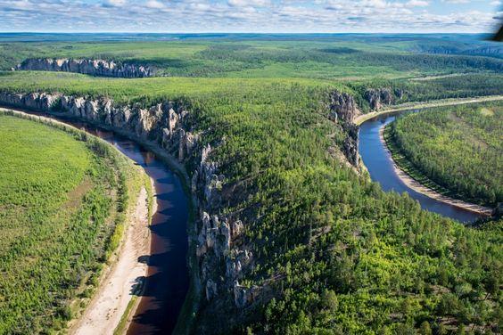 Lena Yakutia, Russia - Lena Pillars - Lena River - Russia.