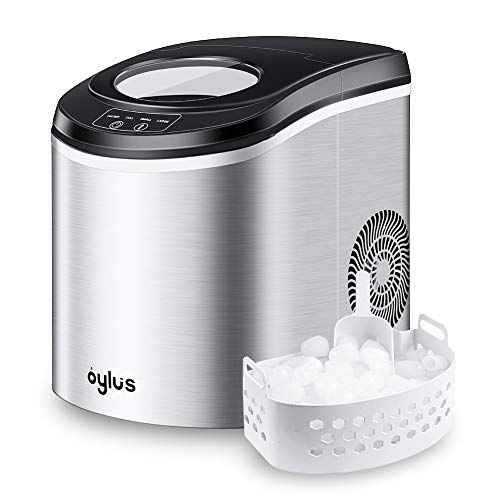 Oylus Stainless Steel Ice Maker Countertop Ice Machine For Home