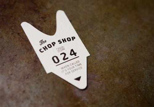 business card Chop Shop: Graphic Design, Logo Branding Ideas, Branding Design, Business Cards, Design Graphic, Shop Ticket, Branding Identity